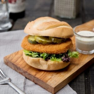 BURGER- Chicken Breast Breaded Patties Fully Cooked 3.5oz Each Big C (10lbs Box)