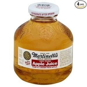 APPLEJUICE- Gold Medal Martinelli's glass bottles 24/10 oz