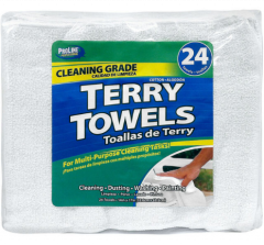 TERRY TOWELS- White