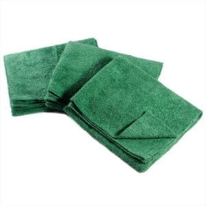 "TERRY TOWELS- MicroFiber 16""x16"" Green Fruitland 12ct"