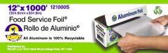 12X1000 Standard Aluminum Foil Roll